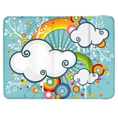 Rainbow Clouds Tree Circle Orange Samsung Galaxy Tab 7  P1000 Flip Case