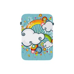 Rainbow Clouds Tree Circle Orange Apple Ipad Mini Protective Soft Cases