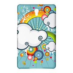 Rainbow Clouds Tree Circle Orange Samsung Galaxy Tab S (8 4 ) Hardshell Case