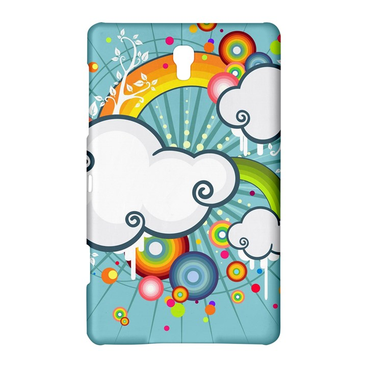 Rainbow Clouds Tree Circle Orange Samsung Galaxy Tab S (8.4 ) Hardshell Case
