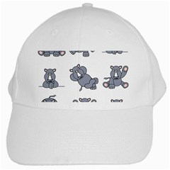 Rhinoceros Animal Rhino White Cap