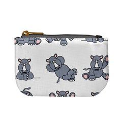 Rhinoceros Animal Rhino Mini Coin Purses