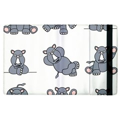 Rhinoceros Animal Rhino Apple Ipad 3/4 Flip Case
