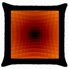 Orange Background Wallpaper Texture Lines Throw Pillow Case (black) by Amaryn4rt