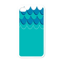 Sea Wave Blue Water Beach Apple Iphone 4 Case (white)