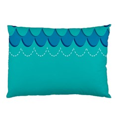 Sea Wave Blue Water Beach Pillow Case (two Sides)