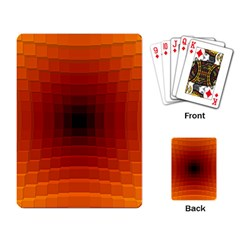 Orange Background Wallpaper Texture Lines Playing Card by Amaryn4rt