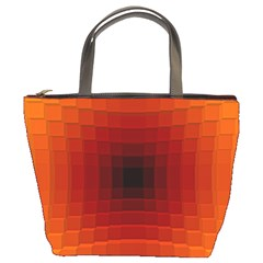 Orange Background Wallpaper Texture Lines Bucket Bags by Amaryn4rt