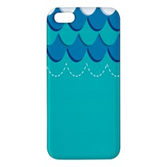 Sea Wave Blue Water Beach Iphone 5s/ Se Premium Hardshell Case