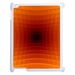 Orange Background Wallpaper Texture Lines Apple Ipad 2 Case (white) by Amaryn4rt