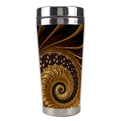 Fractal Spiral Endless Mathematics Stainless Steel Travel Tumblers by Amaryn4rt