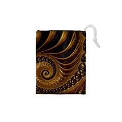 Fractal Spiral Endless Mathematics Drawstring Pouches (xs)  by Amaryn4rt