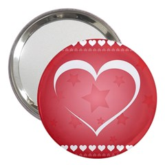 Postcard Banner Heart Holiday Love 3  Handbag Mirrors by Amaryn4rt