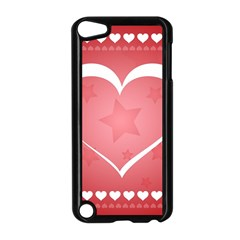 Postcard Banner Heart Holiday Love Apple Ipod Touch 5 Case (black) by Amaryn4rt