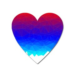 Gradient Red Blue Landfill Heart Magnet by Amaryn4rt