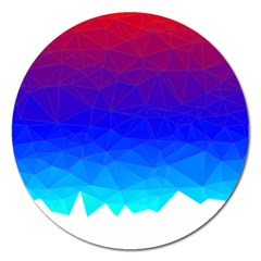 Gradient Red Blue Landfill Magnet 5  (round) by Amaryn4rt