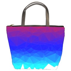 Gradient Red Blue Landfill Bucket Bags