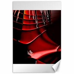 Red Black Fractal Mathematics Abstract Canvas 20  X 30