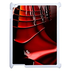 Red Black Fractal Mathematics Abstract Apple Ipad 2 Case (white)