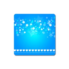 Desktop Banner Postcard Hearts Square Magnet by Amaryn4rt