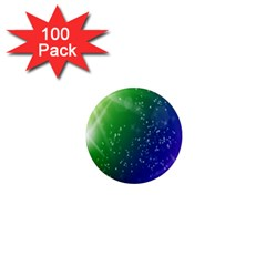 Shiny Sparkles Star Space Purple Blue Green 1  Mini Magnets (100 Pack)