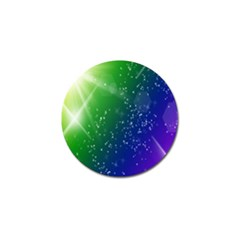 Shiny Sparkles Star Space Purple Blue Green Golf Ball Marker (4 Pack)