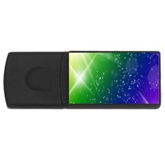 Shiny Sparkles Star Space Purple Blue Green Usb Flash Drive Rectangular (4 Gb) by Alisyart