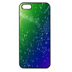 Shiny Sparkles Star Space Purple Blue Green Apple Iphone 5 Seamless Case (black) by Alisyart