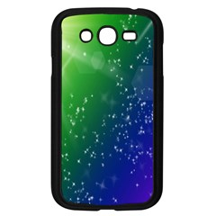 Shiny Sparkles Star Space Purple Blue Green Samsung Galaxy Grand Duos I9082 Case (black)