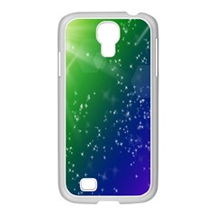 Shiny Sparkles Star Space Purple Blue Green Samsung Galaxy S4 I9500/ I9505 Case (white) by Alisyart