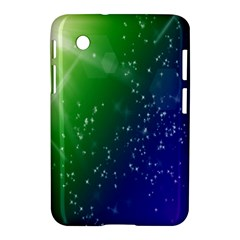 Shiny Sparkles Star Space Purple Blue Green Samsung Galaxy Tab 2 (7 ) P3100 Hardshell Case  by Alisyart