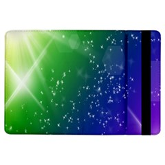 Shiny Sparkles Star Space Purple Blue Green Ipad Air Flip by Alisyart