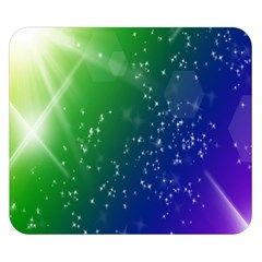 Shiny Sparkles Star Space Purple Blue Green Double Sided Flano Blanket (small)