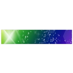 Shiny Sparkles Star Space Purple Blue Green Flano Scarf (small)