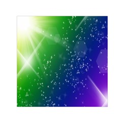 Shiny Sparkles Star Space Purple Blue Green Small Satin Scarf (square) by Alisyart