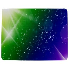 Shiny Sparkles Star Space Purple Blue Green Jigsaw Puzzle Photo Stand (rectangular) by Alisyart