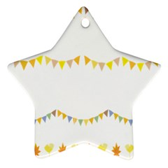 Season Flower Floral Spring Star Ornament (two Sides)