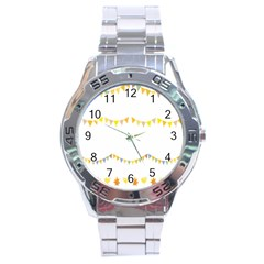 Season Flower Floral Spring Stainless Steel Analogue Watch by Alisyart