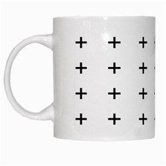 Sign Cross Plus Black White Mugs