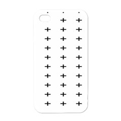 Sign Cross Plus Black Apple Iphone 4 Case (white)