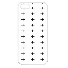 Sign Cross Plus Black Apple Iphone 5 Seamless Case (white)