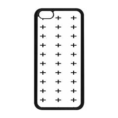 Sign Cross Plus Black Apple Iphone 5c Seamless Case (black)