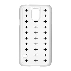 Sign Cross Plus Black Samsung Galaxy S5 Case (white)