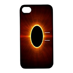 Solar Eclipse Moon Sun Black Night Apple Iphone 4/4s Hardshell Case With Stand