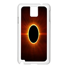 Solar Eclipse Moon Sun Black Night Samsung Galaxy Note 3 N9005 Case (white)