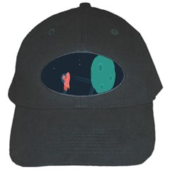 Space Illustration Irrational Race Galaxy Planet Blue Sky Star Ufo Black Cap