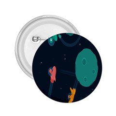 Space Illustration Irrational Race Galaxy Planet Blue Sky Star Ufo 2 25  Buttons