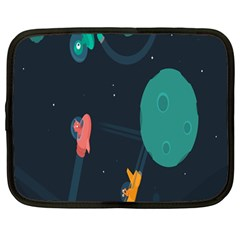Space Illustration Irrational Race Galaxy Planet Blue Sky Star Ufo Netbook Case (large)