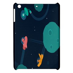 Space Illustration Irrational Race Galaxy Planet Blue Sky Star Ufo Apple Ipad Mini Hardshell Case