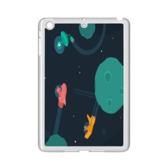 Space Illustration Irrational Race Galaxy Planet Blue Sky Star Ufo Ipad Mini 2 Enamel Coated Cases